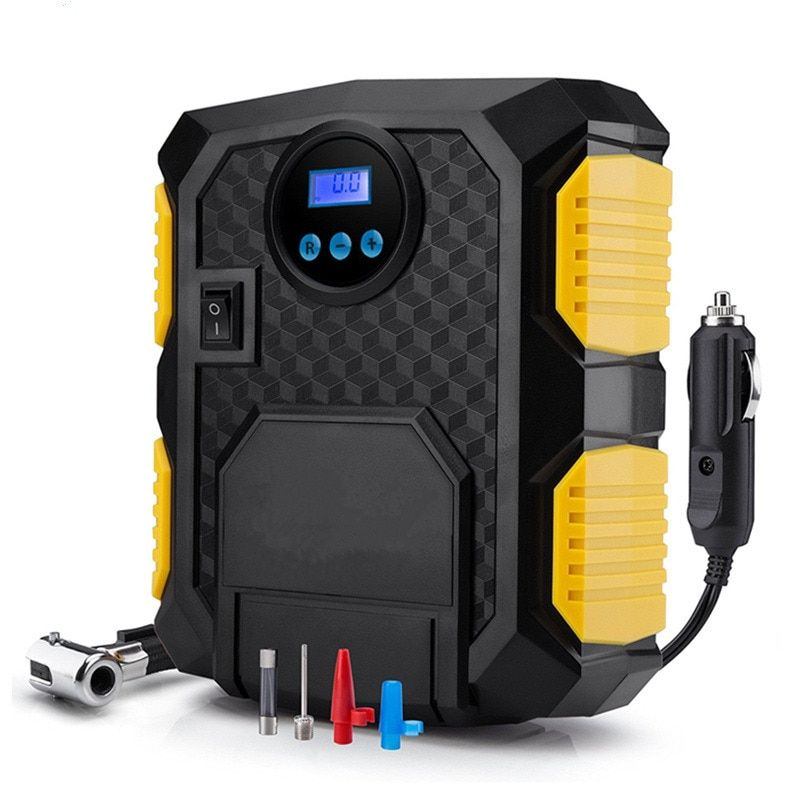 POWERTIGER Portable 12V Car inflator Electric Air Compressor Tire Inflator Pump Long Extended Power Cord With Cigarette Lighter