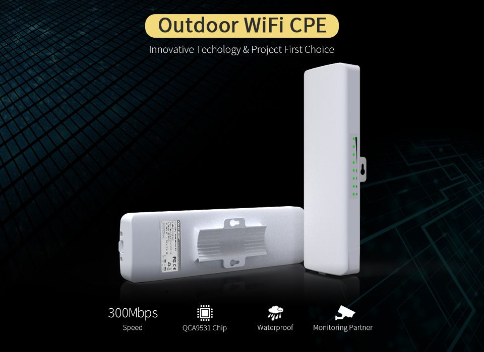 QCA9531 COMFAST Outdoor CPE wireless Router AP 300mbp Wifi Access Point Router Wi Fi Repeater Wifi Amplifier Rj45 point to point