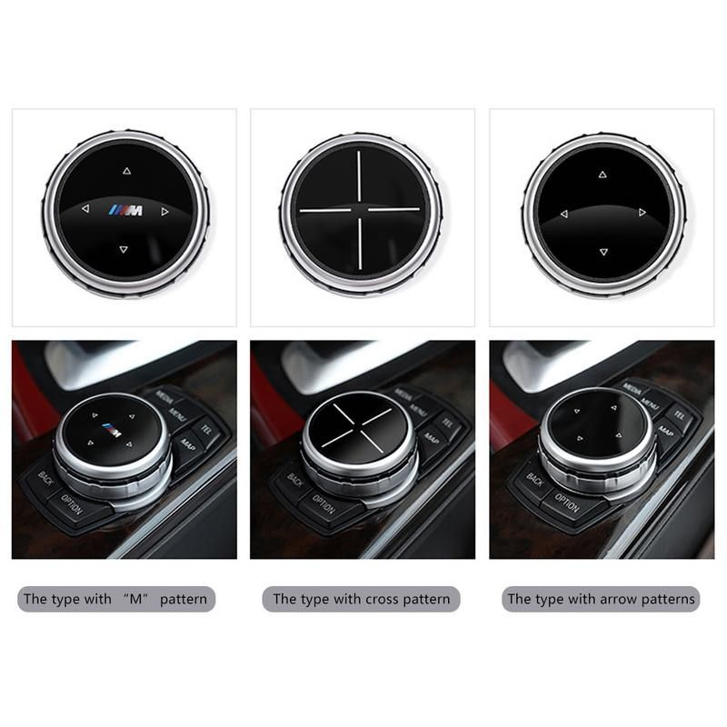 Multimedia Accessories Idrive Modification Elegant Classic Button Cover Knob Cover For BMW x1 / x3 / x5 / x6 / 1 Series 2/7/5/3