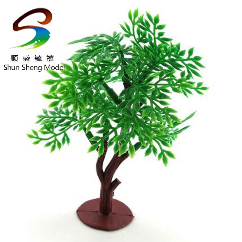 QSX locust tree sand material building model DIY fittings of stop-motion Green product