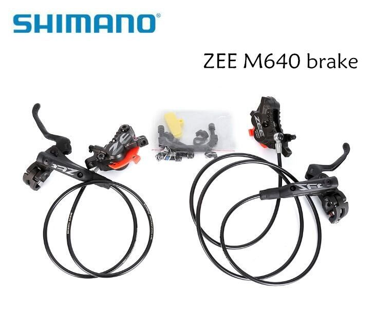 SHIMANO ZEE M640 4 Piston Metal Cooling Fins Hydraulic Disc Brake MTB Mountain Bike Front & Rear Lever and Caliper Bicycle parts