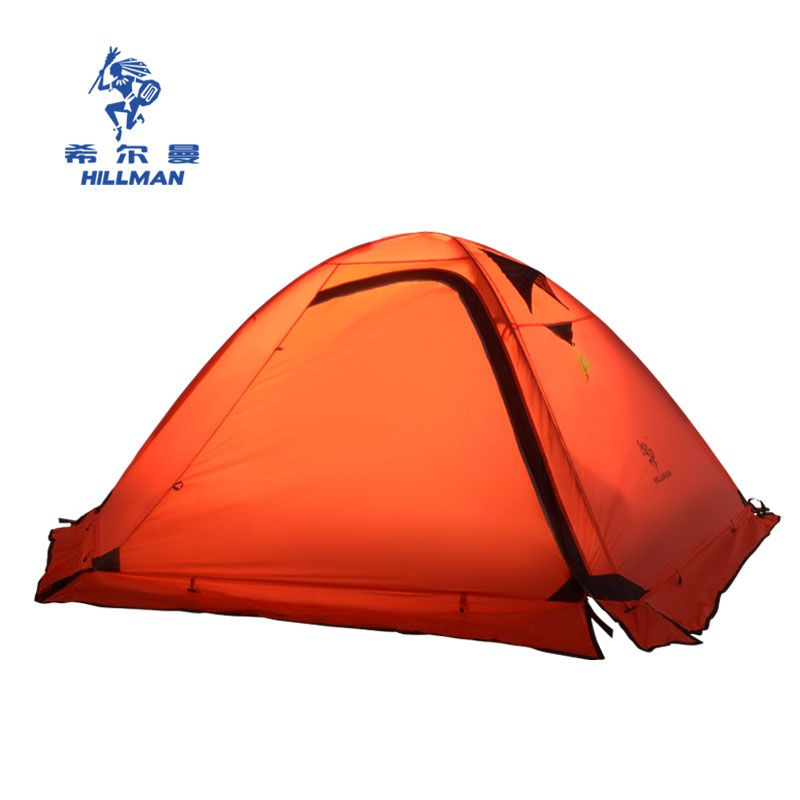 2 person 4 season Outdoor Camping Tent Hiking Beach Tent 310t Nylon with Silicon Coated Camping Tent with snow skir