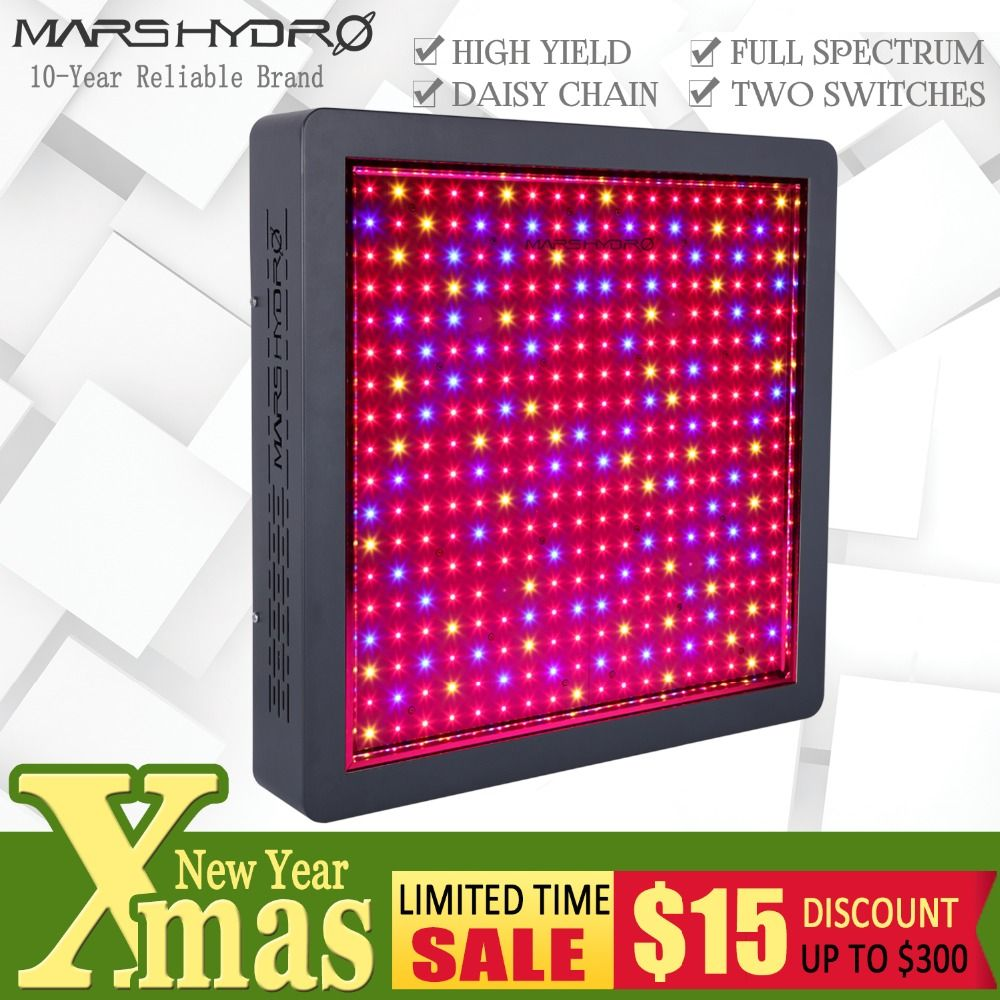 Mars Hydro Mars II 1600 Full Spectrum LED Grow Light for Indoor Garden Hydro System Hydroponics Veg Flower Plants Medical
