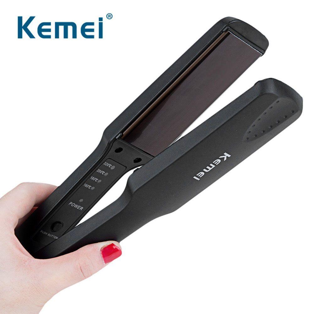Kemei fer à lisser professionnel nouveau fer à lisser plat fers à coiffer outils avec échauffement rapide Performance thermique D40