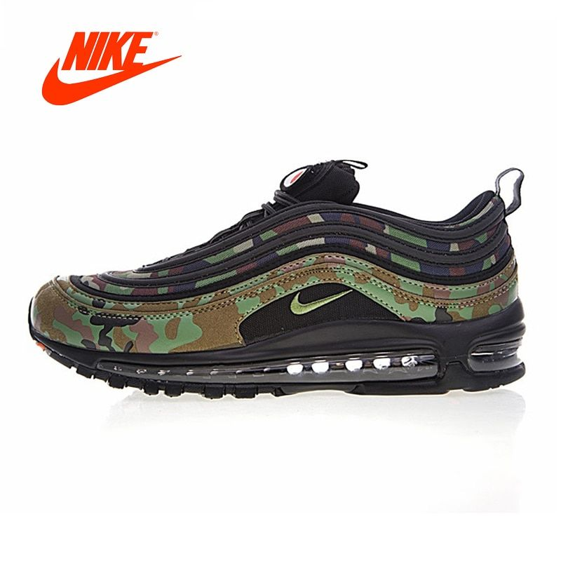 Original Nike Air Max 97 Premium 97 Country Camo Japan Running Shoes for Men Outdoor Jogging Stable Breathable gym Shoes 2018