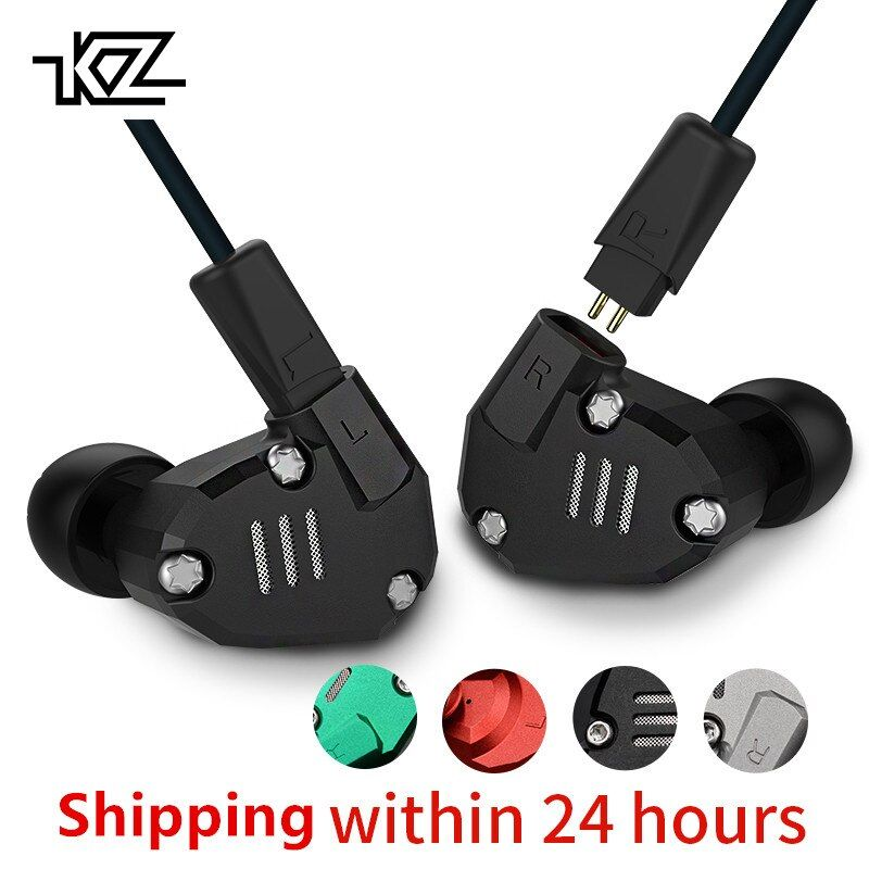 KZ ZS6 2DD 2BA Hybrid Earphone In Ear HIFI Stereo Sport Headset Suitable Bluetooth ZS5 Pro Pre-sale Priority delivery