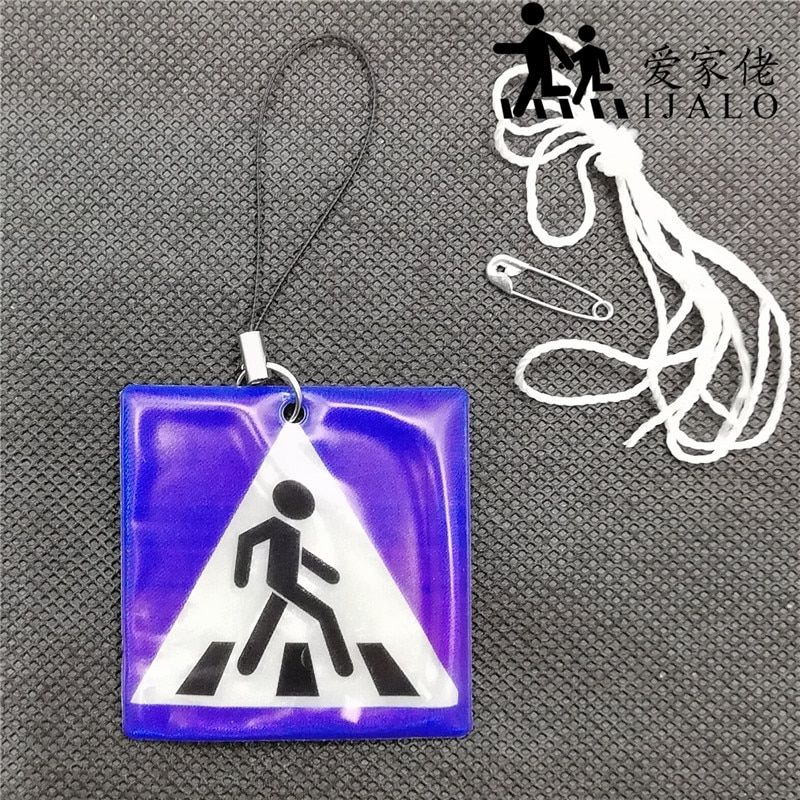 Sidewalk Reflective student school bag pendant accessories Reflective keychain for visible safety