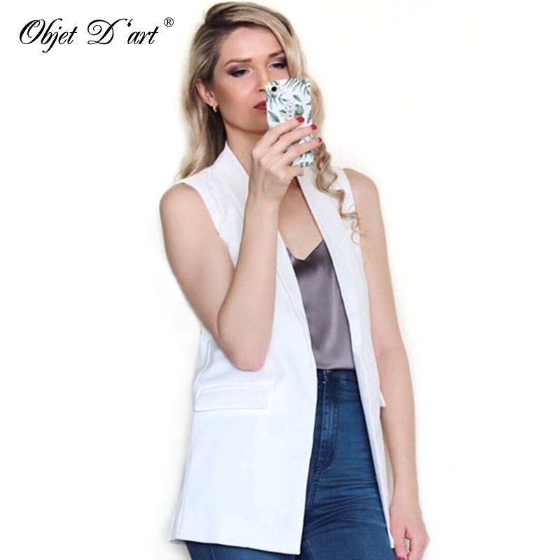 2018 été femmes élégant gilet mode sans manches vestes décontracté veste femme Long gilet d'extérieur marque gilet colete feminino