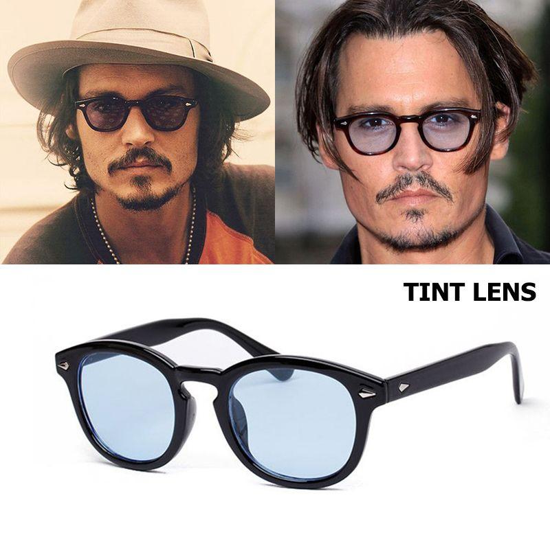 JackJad Nouvelle Mode Johnny Depp Lemtosh Style Ronde lunettes de Soleil Teinte océan Lentille Marque Party Design Voir Lunettes de Soleil Oculos De Sol