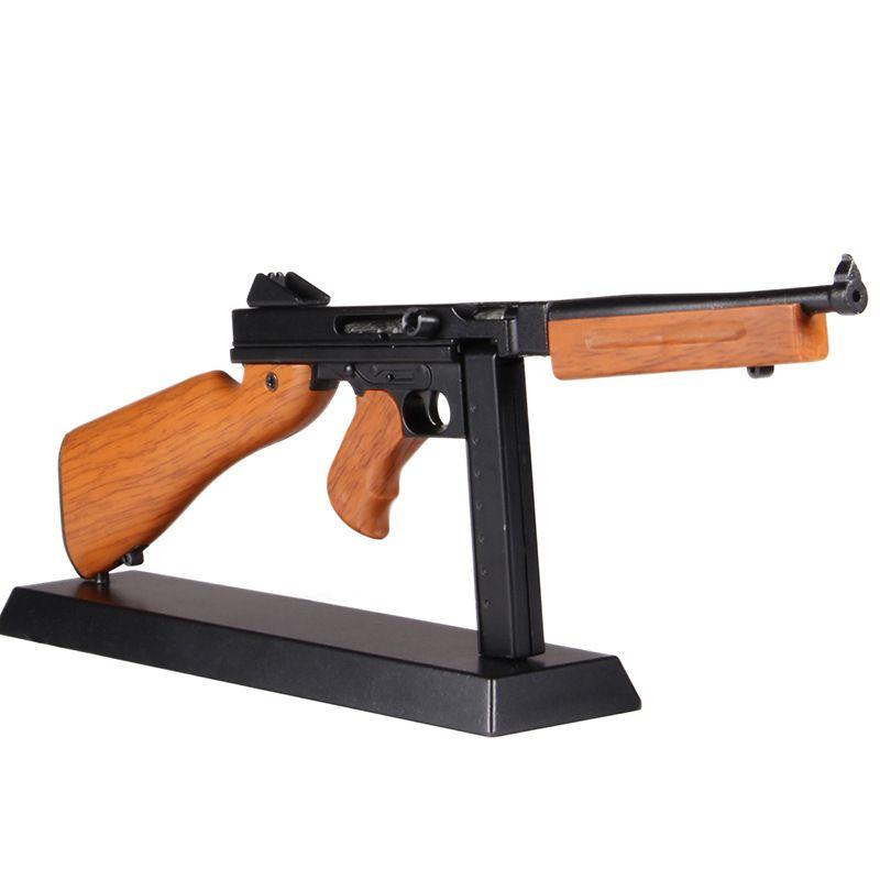 1:4 métal jouet pistolet jouet fusil de Sniper modèle Thomson enfants Collection cadeau bricolage pistolet modèle statique décoration amovible ne peut pas tirer