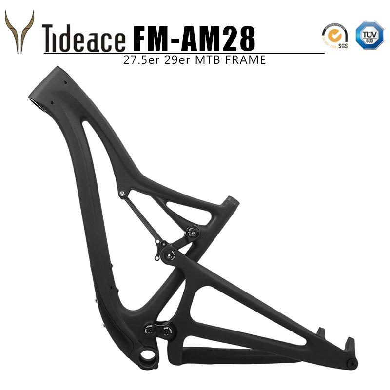 Tideace 29er boost 27.5er plus suspension frame 29er XC full suspension carbon Mountain Bike Frame Cross country