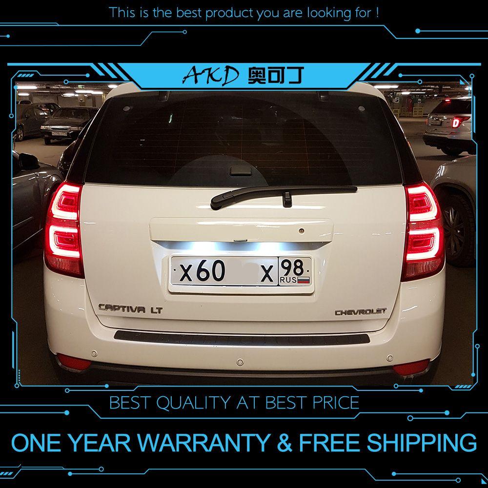 AKD tuning autos Schwanz lichter Für Chevrolet Captiva 2008-2016 Rückleuchten LED DRL tagfahrlicht Nebel lichter engel augen hinten parkplatz