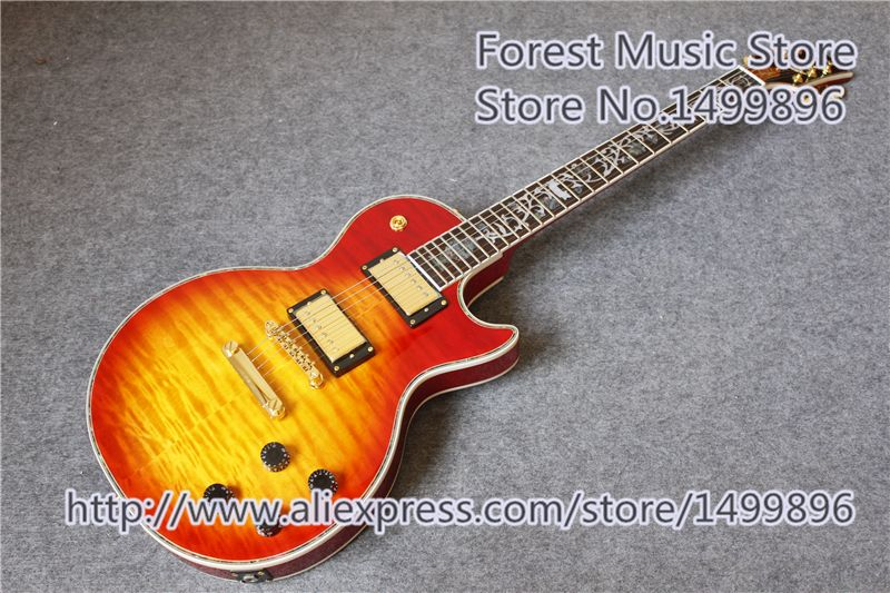 China OEM Cherry Sunburst CS Electric LP Custom Shop Electric Guitars In Stock