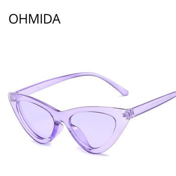 OHMIDA модные дешевые кошачий глаз солнцезащитные очки женские 2018 фиолетовые зеркальные солнцезащитные очки для женщин Ретро винтажные Oculos De ...