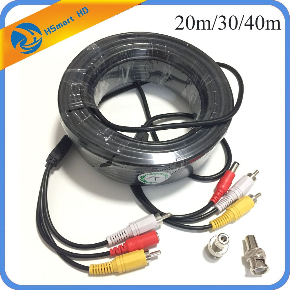150 Средства ухода за кожей стоп 30 м 20 м аудио-видео Мощность безопасности Кабели для камер с RCA адаптер BNC Мощность кабель для безопасности Mic ...