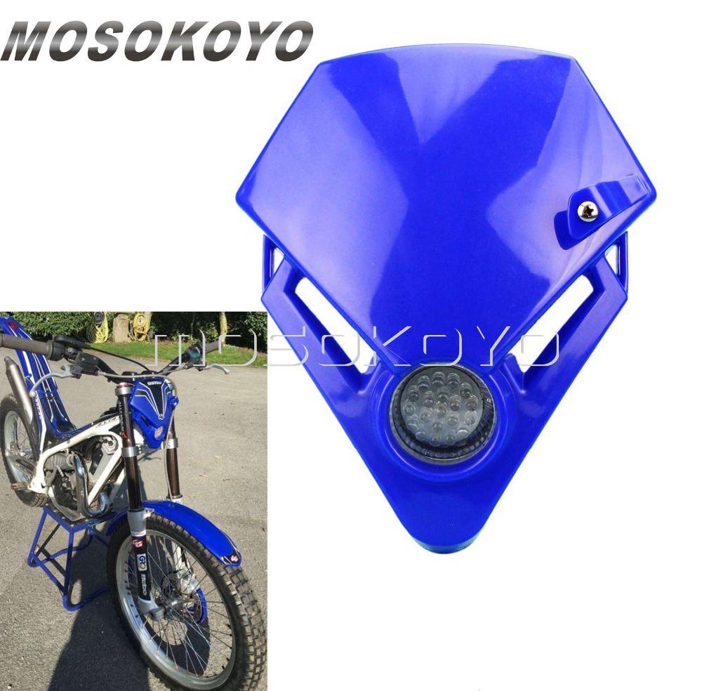 Blaue LED Mini Racing Bike Enduro Scheinwerfer für GAS GAS TXT Pro 280 EC 300 450 Probeauftrag Racing Kopf Licht