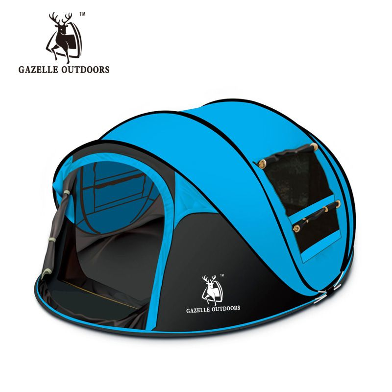2017 New Large spece outdoor 3-4persons automatic pop up tent windproof beach camping tent