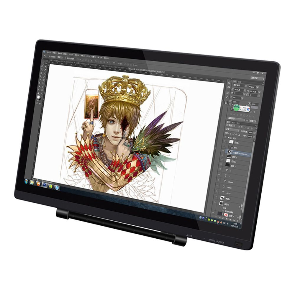UGEE UG-2150 21.5'' IPS Screen P50S Pen Smart Drawing Tablet 5080LPI Resolution Graphic Drawing Tablet 1080P HD Display Monitor