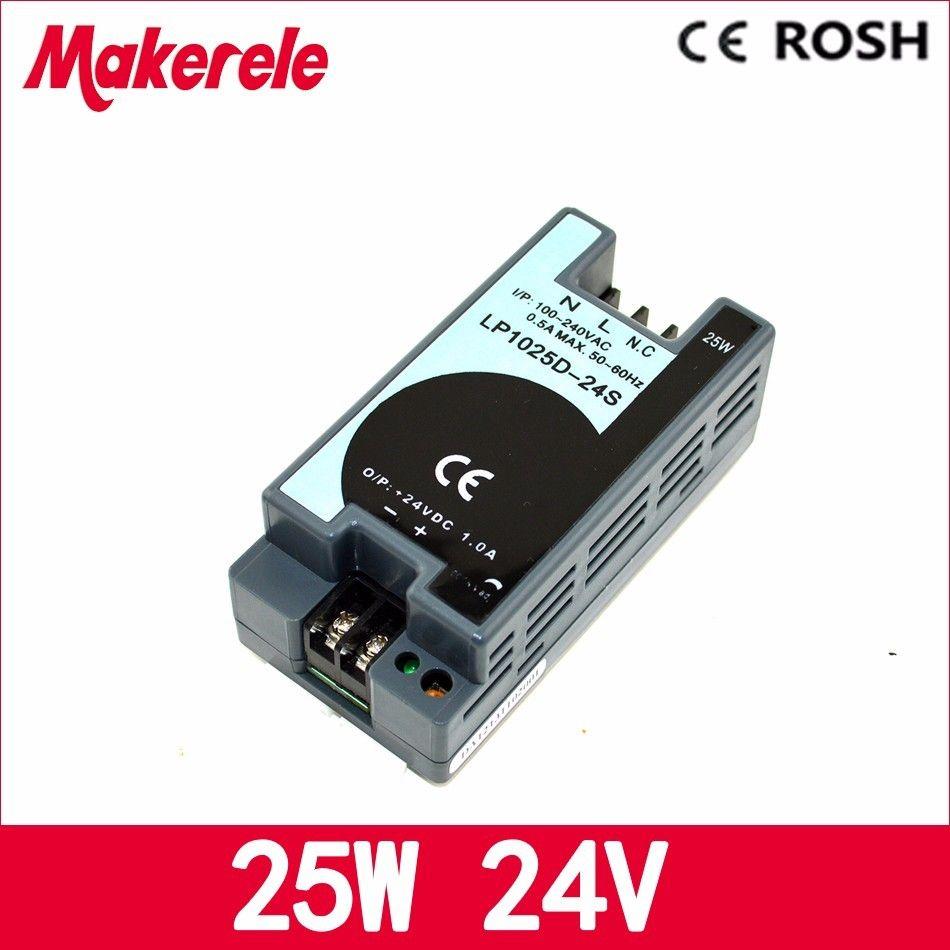 Livraison gratuite 1A 25 w 24 v ac-dc alimentation LP-25-24 Din Rail commutation LED d'alimentation pilote