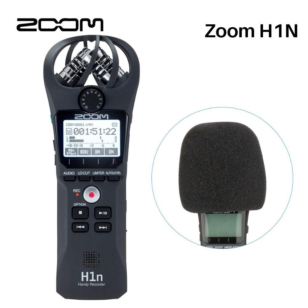 Zoom H1N Handliche Digital Voice Recorder Tragbare Audio Stereo Mikrofon Zoom für Nikon Canon Pentax DSLR SLR Aufnahme Interview