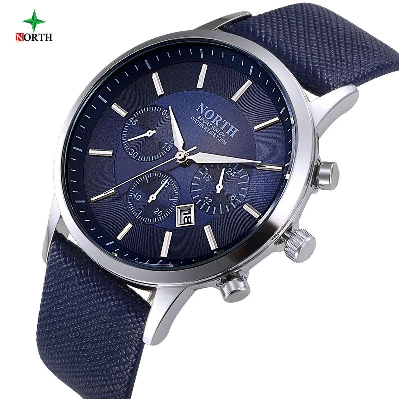 Men Watch Sport 30M Waterproof Fashion <font><b>Wristwatch</b></font> Montre Homme Genuine Leather Relojes Hombre 2017 Quartz Male Business Watch