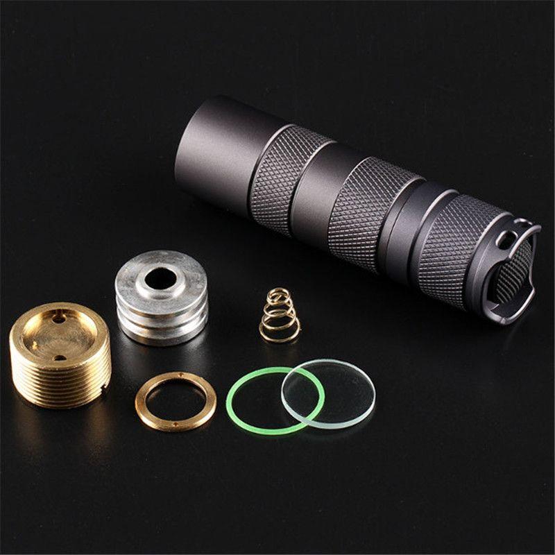 Aleación de aluminio Convoy S2 + Linterna Negro BRICOLAJE Anfitrión Linterna LED Shell Anfitrión Conveniente LED diámetro de 16 MM
