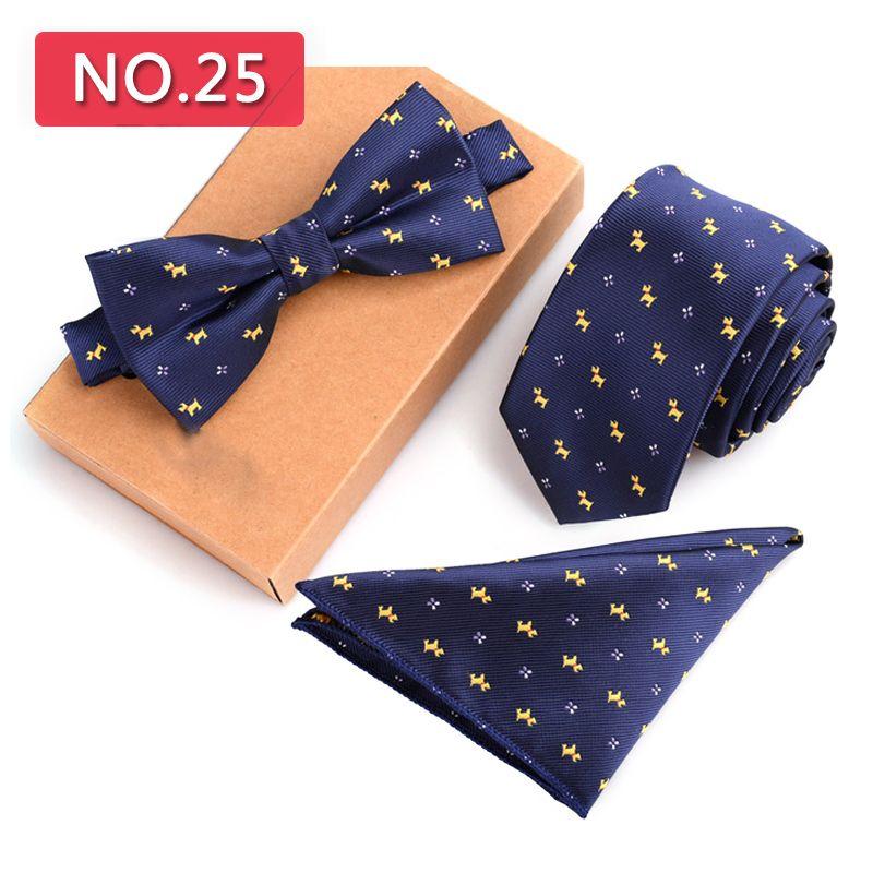 3 STÜCKE Schlank Krawatte Set Männer Fliege Taschentuch Bowtie Homme Krawatte Cravate Noeud Papillon Mann Corbatas Hombre Pajarita