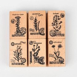 Cute DIY Plant Wooden Seal Photo Album Scrapbooking Diary Rubber Craft  Seal Stamp Stationary Set