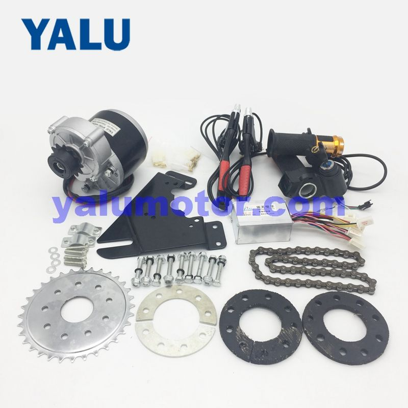 24V 250W Left electric ebike kit with 12T Black Left freewheel MY1016Z Razor scooter motor for Left Chain Drive Common City Bike