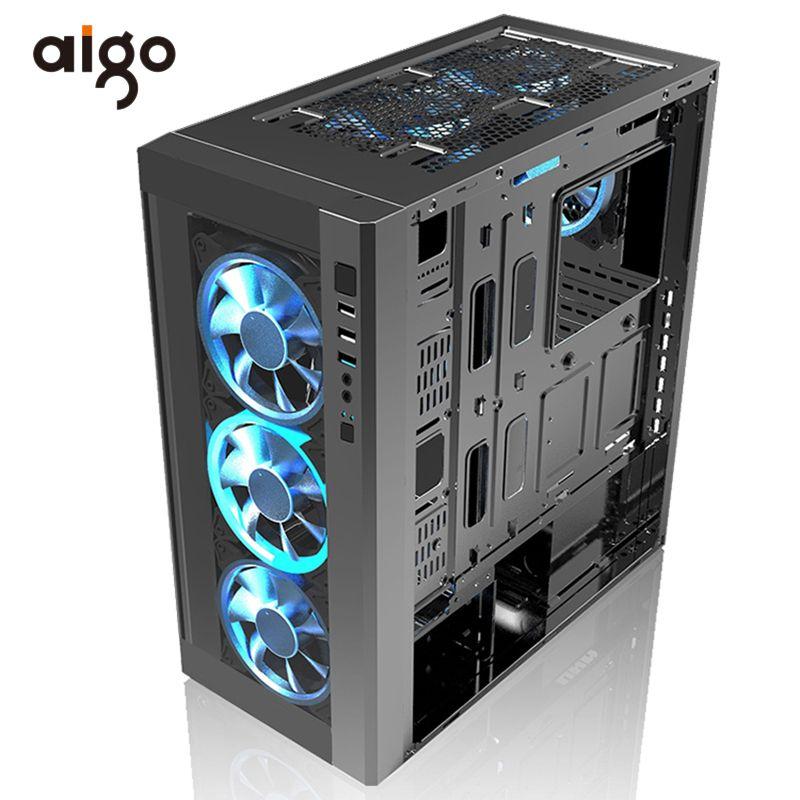 Aigo PC Computer Fall Chassis 404*205*455mm Atx Computer Fall USB 3.0 I/O Port Unterstützung wasser Kühler Gabinete Computador Fällen