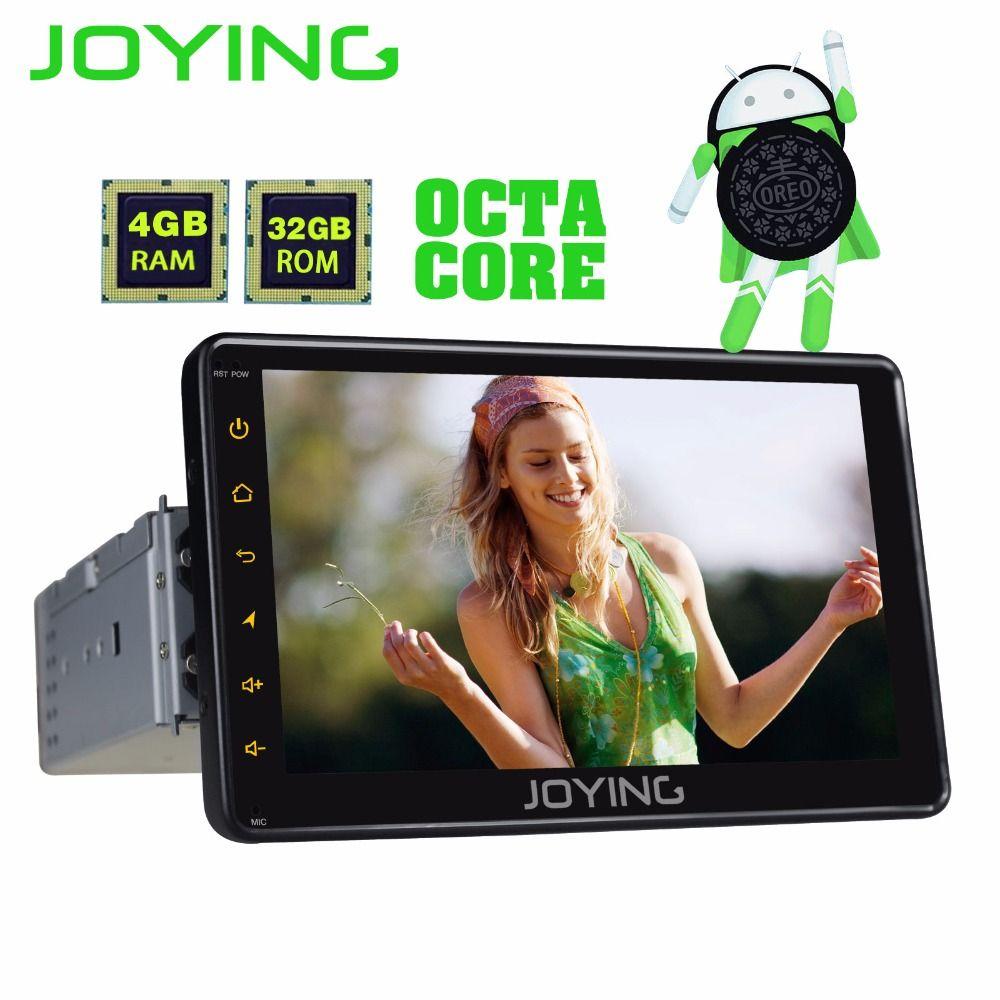 JOYING PX5 4GB RAM 32GB ROM 1din 7'' Android 8.0 car radio stereo GPS audio Octa core HD head unit carplay Video Out Cassette BT