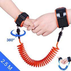 Anti Perdu-Bracelet Lien Bracelet Bébé Sangle De Sécurité Enfants En Bas Âge Ceinture Marche Corde PU Lien Réglable Harnais Main Anneau Enfants