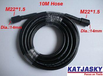 Rondelle de voiture tuyau 10 m 32.8 «400Bar 5800PSI, deux extrémités sont M22 * 1.5*14mm, nettoyeur haute pression tuyau de pulvérisation d'eau