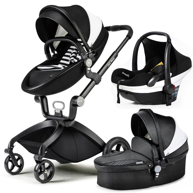 Hot Mom stroller high landscape can sit or lie pneumatic wheels portable baby stroller trolley free delivery