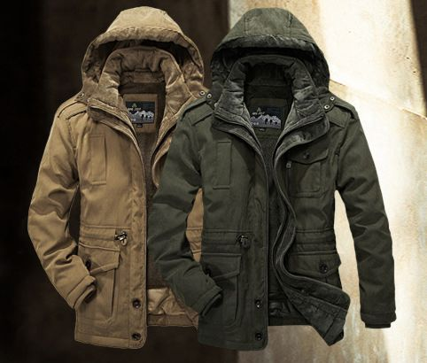 Winter Thick Padded Parka Men Warm Parkas Heavy Wool 2 in 1 Acket Coat Removable Russian Sheep Men's Coat Jacket Men