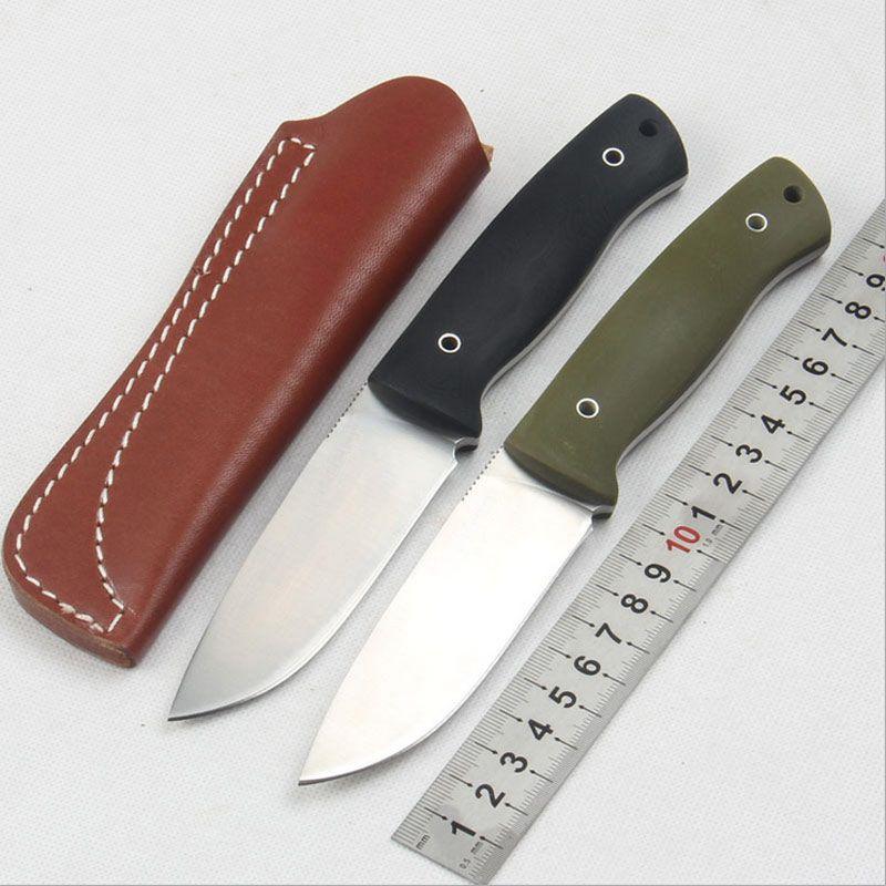 Haute qualité 58-60HRC D2 lame G10 poignée couteau fixe en plein air camping outil de survie tactique utilitaire couteaux de chasse