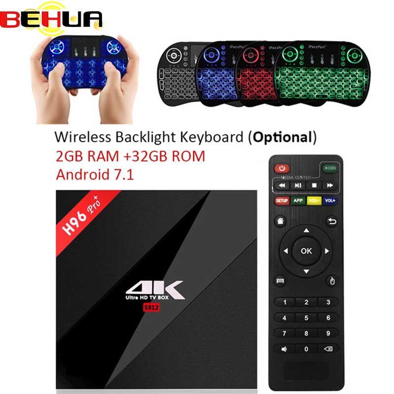 3G/32G H96 Pro Plus + Amlogic S912 H96 Pro Plus Android 7.1 smart TV Box Octa Core 2.4G/5.8G WiFi 4K H96 Pro Media Player box