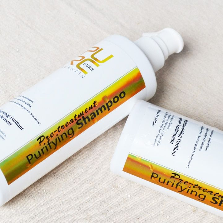 Hair treatment keratin purifying shampoo  300ml deep clearing hair shampoo free shipping