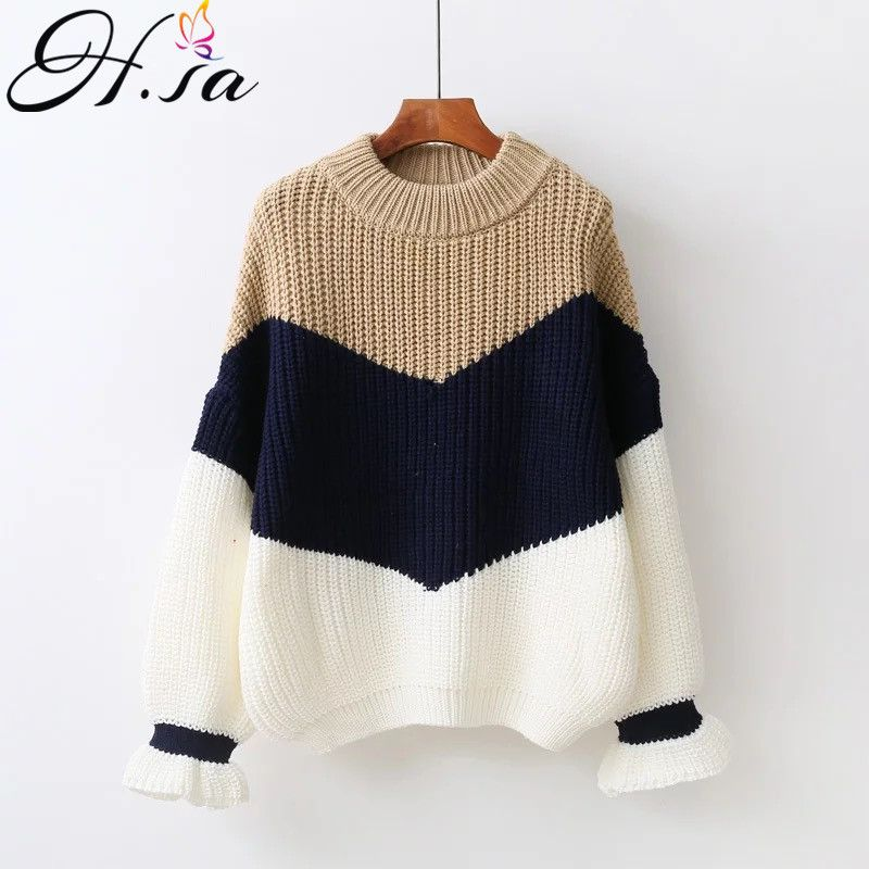 H.SA Winter Pull Sweaters Women 2017 Fashion Loose Jumpers Korean Pullovers Knitting Pullovers Thick Christmas Sweater Unif