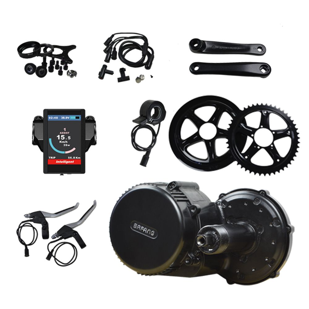 Bafang 8Fun BBS02B 36V 500W Electric Bicycle Kit Mid Crank Motor with Color Display for Electric Bikes