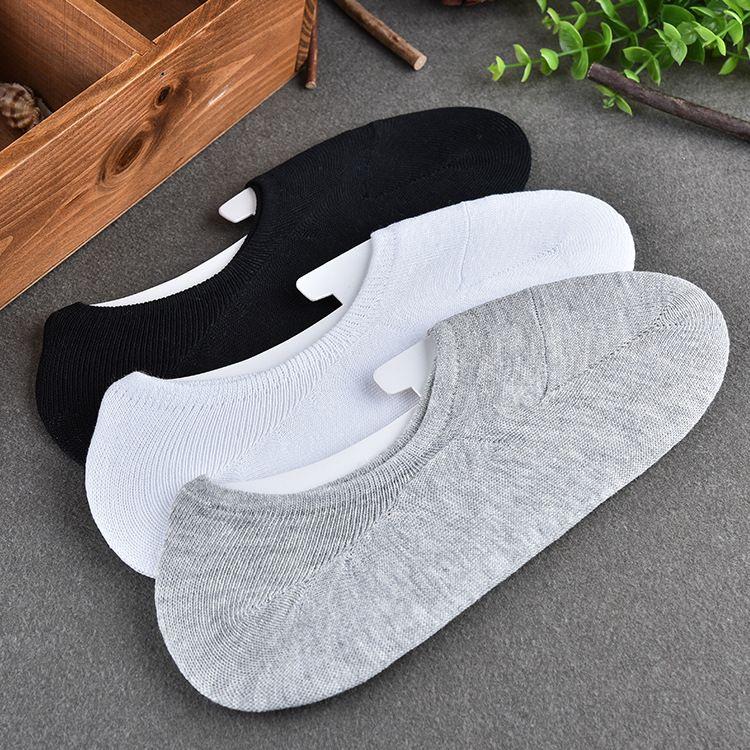 Deslizadores del calcetín Invisible De fibra de Bambú de los hombres Calcetines del Barco Moda de Primavera y Verano calcetines cortos Masculinos 10 unids = 5 par/lote
