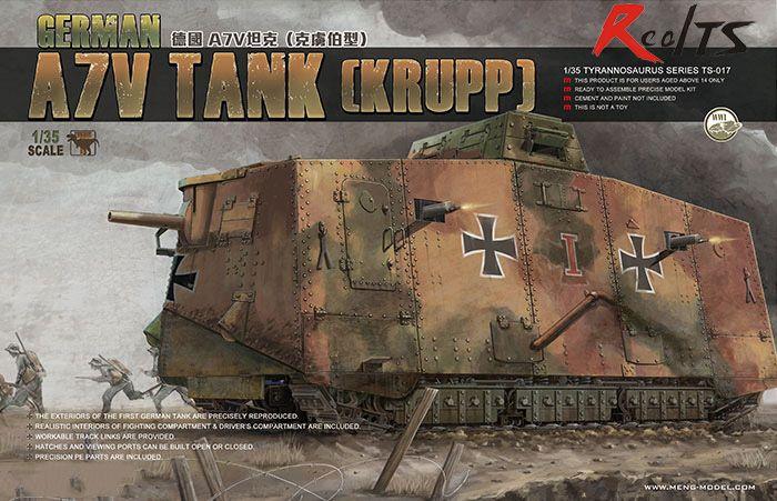 MENG modèle 1/35 réservoir allemand A7V (KRUPP) # meng TS-017