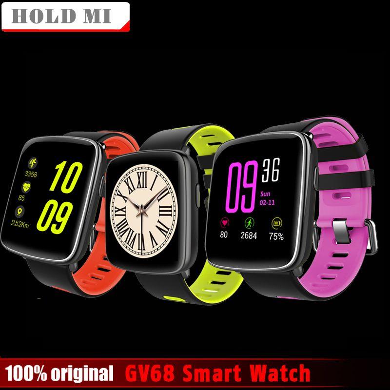 Halten Mi GV68 Smart Uhr Männer Frauen Wasserdichte MTK2502 SmartWatch Phone Wearable gerät Herz Rate Schlaf-monitor für IOS Android