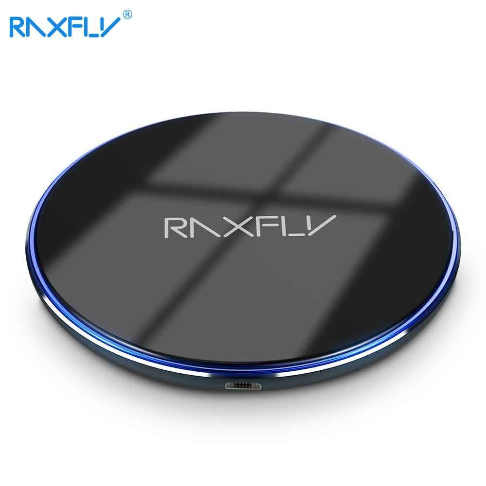 RAXFLY [10 W QI Sans Fil Chargeur] pour iPhone X 8 Plus Rapide Chargeur Pad Pour Samsung S8 Plus Note 8 S6 S7 Bord Sans Fil Chargeurs