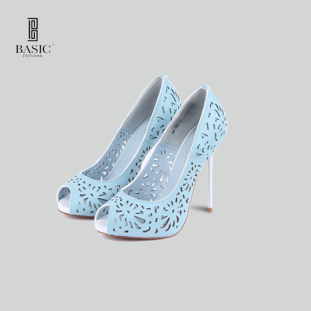 BASIC EDITIONS SPRING SUMMER High Heels WOMEN PEEP TOE CUT OUT DECORATION FASHION PARTY SHOES - 1262-661