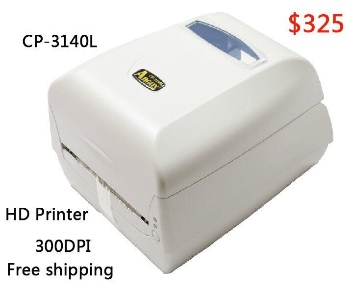 Argox thermal label printer CP-3140L 300dpi Barcode sticker printer working for Jewelry label clothing tag PET/PVC label machine