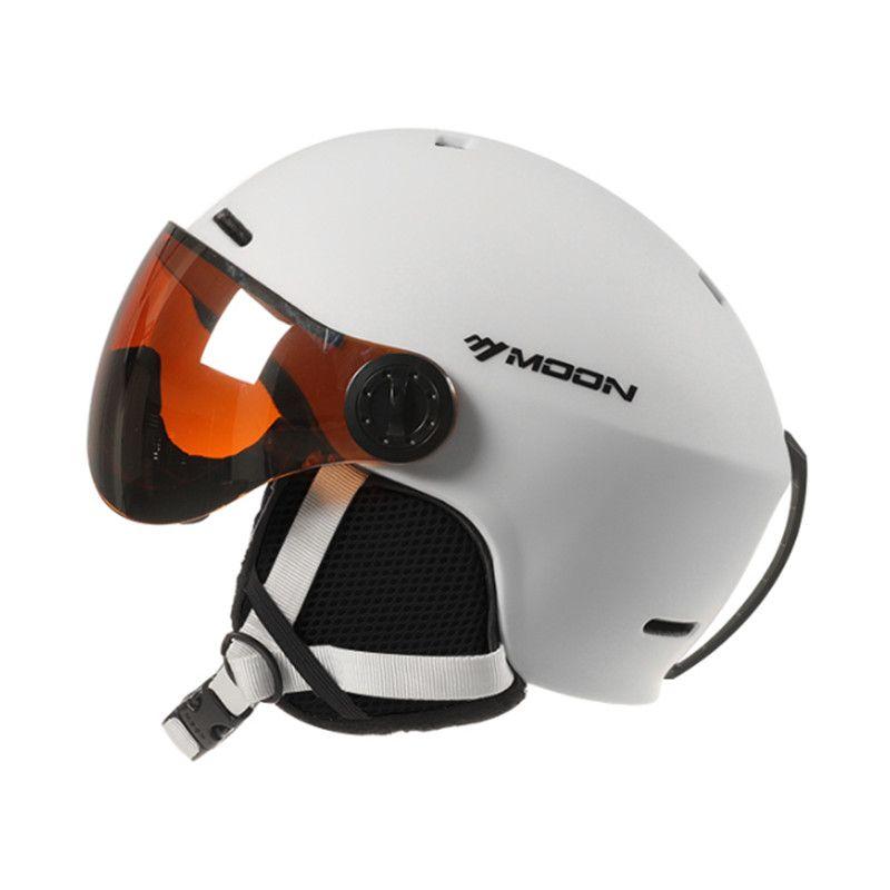 MOND Ski Helm Mit Brille Neue Integrierte EPS Vollständige abdeckung schutz Für Frauen & Männer ski snowboard helm casque ski a50