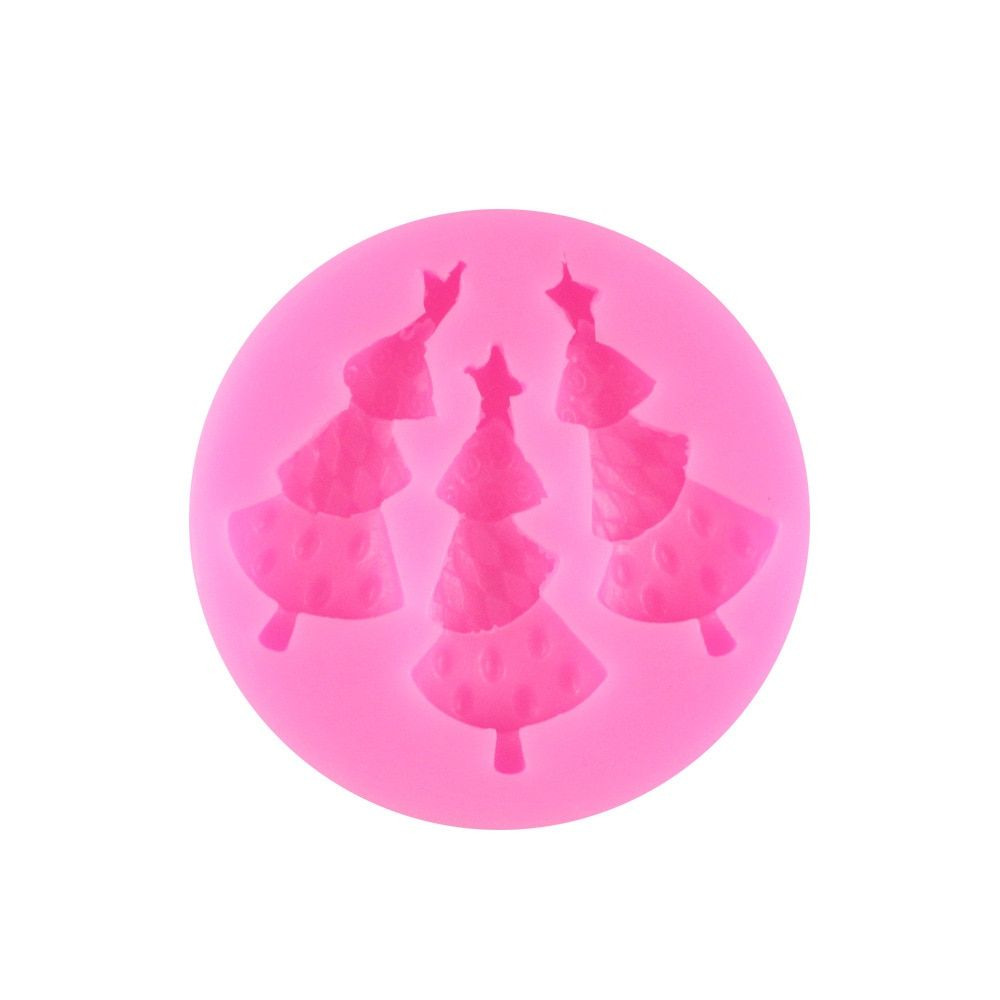 DIY Christmas Trees Cake Molds Fondant Chocolate Silicone Mold Candy Moulds Cake Tools SGS Certified