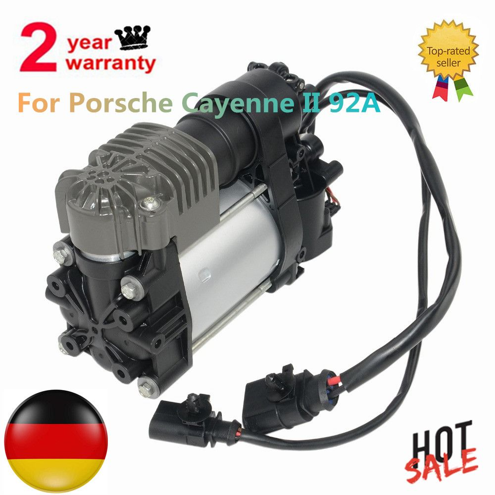 New Air Suspension Compressor Pump For Porsche Cayenne II 92A 7P0698007C 7P0698007D 95835890101