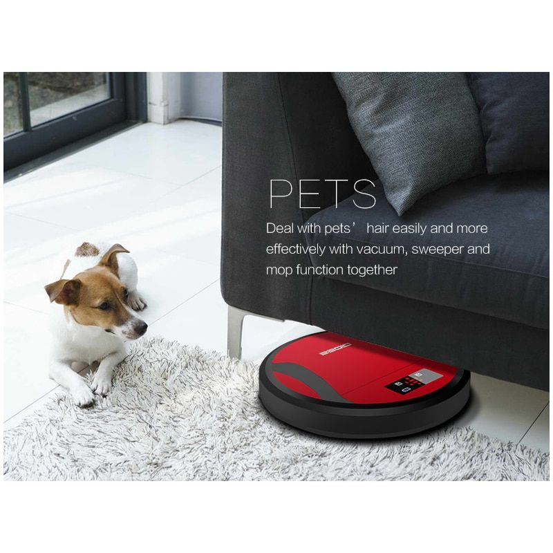 DIQEE 6cm Fuselage irobot roomba 1200 Pa Suction robot vacuum cleaner Large Water Tank irobot Automatic Charging cleaner